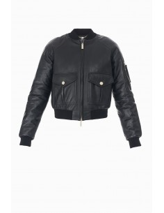 Leather Jacket - Elisabetta Franchi - GD04P87E2