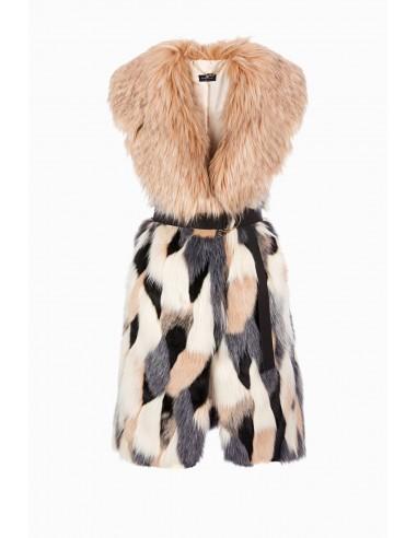 Colored vest with belt - Elisabetta Franchi - GL02A86E2