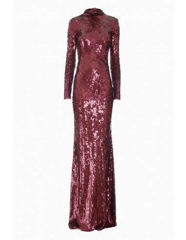 Long dress with embroidery - Elisabetta Franchi - AR14J87E2