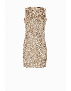 Mini vestido com franjas - Elisabetta Franchi - AR11J87E2