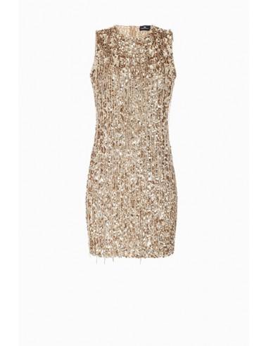 Mini vestido con flecos - Elisabetta Franchi - AR11J87E2
