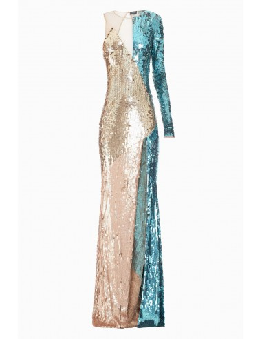 Sukienka na ramię z haftem - Elisabetta Franchi - AR04J87E2