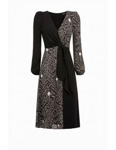 Dress with Elisabetta print - Elisabetta Franchi - AB66991E2