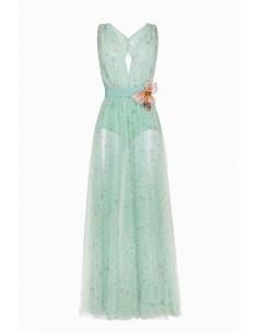 Lange jurk met bloemenprint - Elisabetta Franchi - AB67691E2