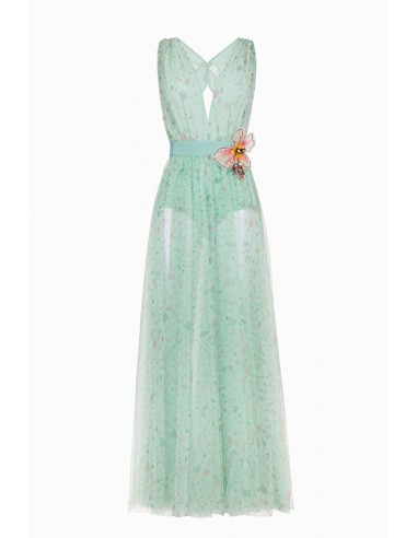 Long dress flower print - Elisabetta Franchi - AB67691E2