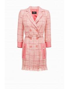 Vestido de peito duplo com cinto - Elisabetta Franchi - AB68191E2