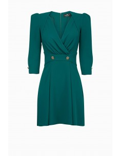 Short dress with buttons - Elisabetta Franchi - AB68891E2