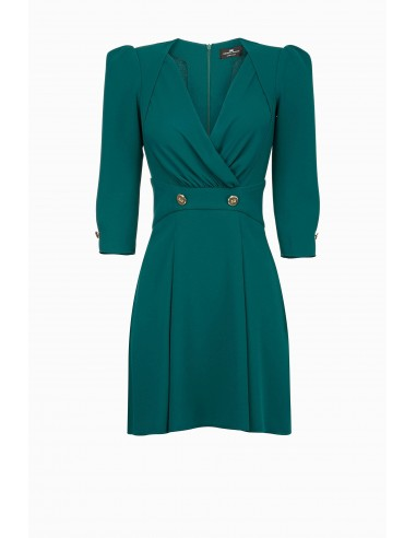 Korte jurk met knopen - Elisabetta Franchi - AB68891E2