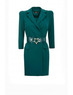 Korte jurk met riem en sterren - Elisabetta Franchi - AB71791E2