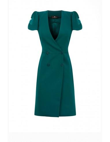Vestido com bordado em estrela - Elisabetta Franchi - AB71891E2