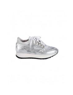 Stokton Sneakers en argent avec paillettes.