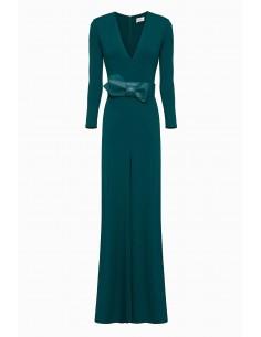 Elisabetta Franchi | Long dress with bow| buy online - AB72991E2