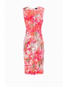Schede jurk met maxi pailletten - Elisabetta Franchi - AR09J92E2