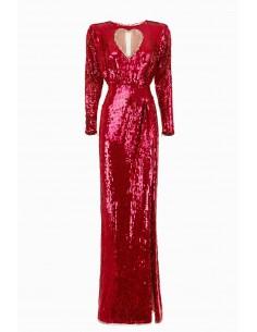 Vestido bordado con corazón - Elisabetta Franchi - AR13M92E2