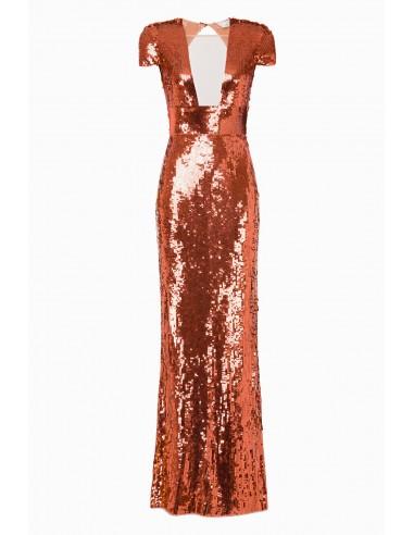 Lange jurk met borduurwerk - Elisabetta Franchi - AR14M92E2