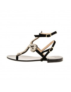 Suede Sandal with Opal Stones