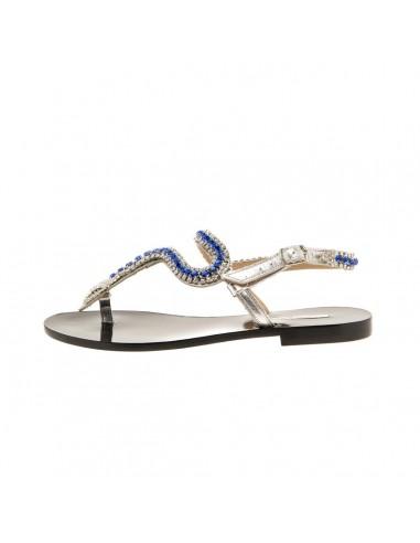 Paola Fiorenza sandalen met kristallen stenen