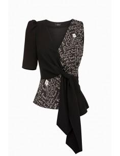 Overhemd blouse Elisabetta-Print - Elisabetta Franchi - CA17691E2