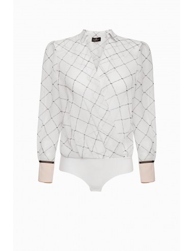 Overhemd blouse lichaam diamant print - Elisabetta Franchi - CB04291E2