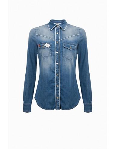 Blusa camisa de brim - Elisabetta Franchi - CJ01D91E2