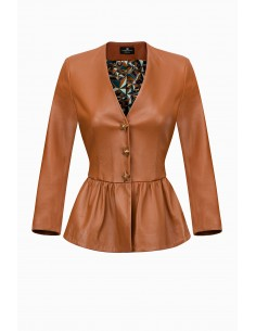 Jacket with star-shaped buttons - Elisabetta Franchi - GD05P91E2