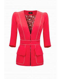 Jacket with V-neck - Elisabetta Franchi - GI10891E2