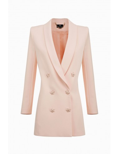 Lange Jacke mit sternförmigen Knöpfen - Elisabetta Franchi - GI11891E2