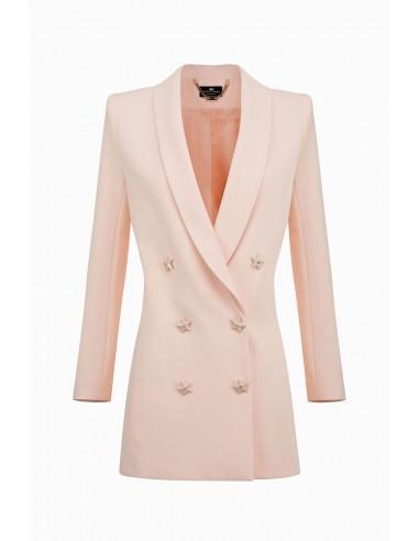 Veste longue avec boutons en forme d'étoile - Elisabetta Franchi - GI11891E2