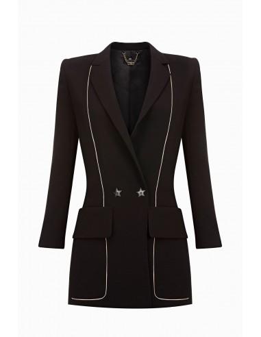 Lange Jacke mit Revers - Elisabetta Franchi - GI12091E2