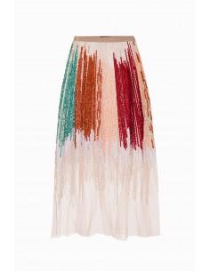 Embroidered tulle skirt - Elisabetta Franchi - GR09J92E2