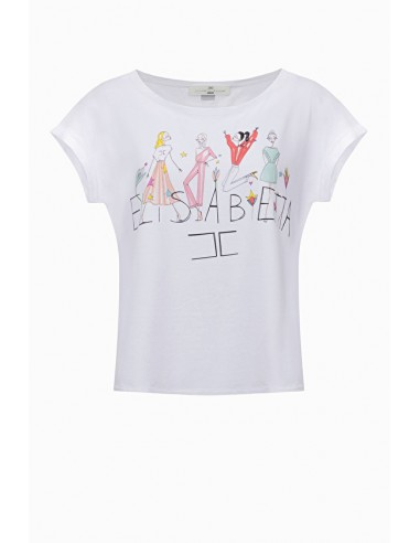 T-Shirt Elisabetta-Print - Elisabetta Franchi - MA02C91E2
