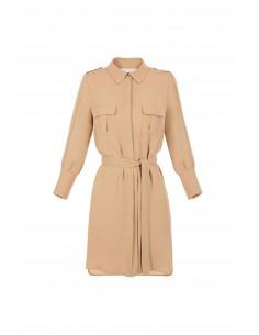Hemdblusen-Kleid mit Gürtel - Elisabetta Franchi