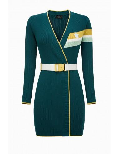 Camisola de malha com cinto - Elisabetta Franchi - MK26M91E2