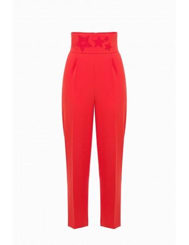 High-cut trousers with stars - Elisabetta Franchi - PA26691E2