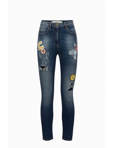 Jeans com remendos coloridos - Elisabetta Franchi - PJ24S91E2
