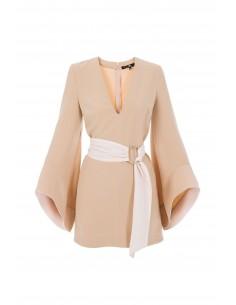 Dress with pagoda sleeves - Elisabetta Franchi - ab06676e2_181
