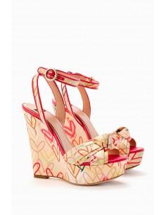 Wedge Shoe Heart Print - Elisabetta Franchi - SA22L92E2