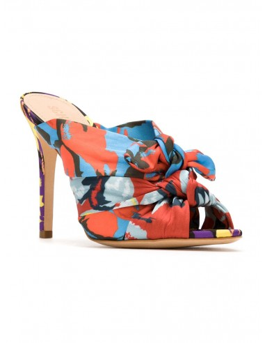 Schutz Sandały z piętą w kolorze wielobarwnym | altamoda.shop - S0138714500001