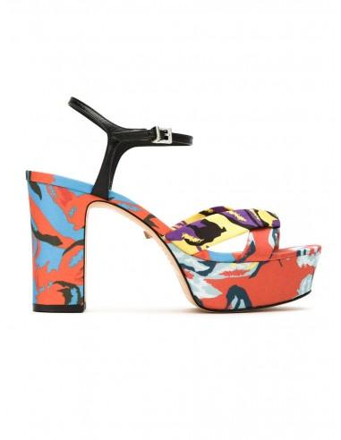Schutz sandalen met plateau en hak | altamoda.shop - S2034600790001