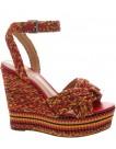 Schutz Sandal Anabela Multicolor Weave | altamoda.shop - S0313902650002