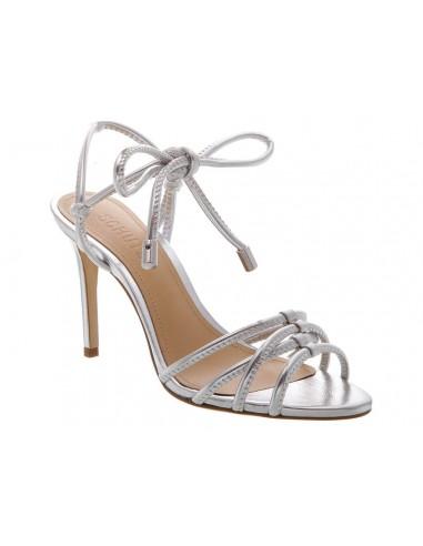 Schutz Sandales en argent, avec talon | altamoda.shop - S0206602110001