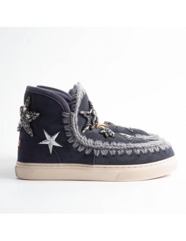 MOU Eskimo Sneaker patches en kristallen sterren in nachtblauw - eskisneptc_nblu