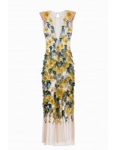 Elisabetta Franchi Lange jurk met borduurwerk | Online kopen - AB75492E2