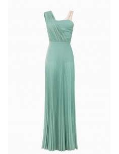 Elisabetta Franchi Pleated dress in jersey fabric | Buy Online - AB79492E2