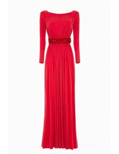 Elisabetta Long dress with chains | Buy Online - AB79892E2