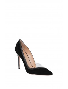 Suede and Grain Leather High Heels - Elisabetta Franchi - sac1s77e2_110