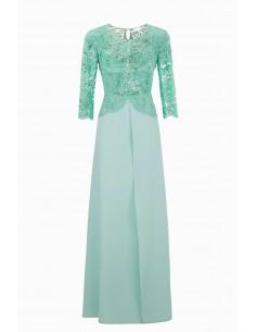 Elisabetta Franchi Long dress z koronką | Kup online - AB80992E2