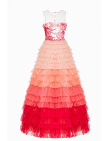 Elisabetta Franchi Sleeveless dress in tulle fabric | Buy Online - AR12J93E2
