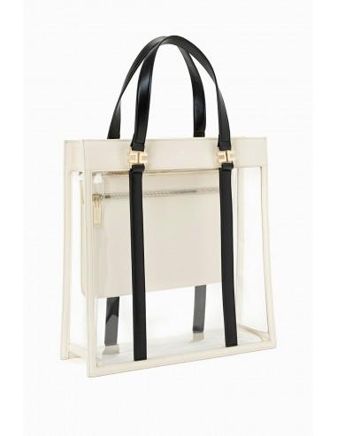 Elisabetta Franchi PVC maxi shopper bag | Buy Online - BS35A93E2