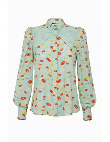 Elisabetta Franchi Blouse with macaron print | Buy Online - CA20192E2